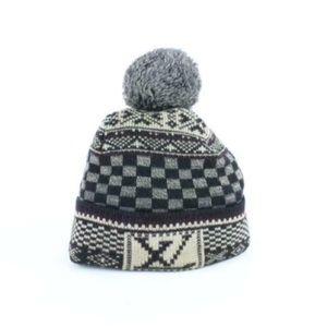 Louis Vuitton Flocon Black Monogram Pom Winter Hat